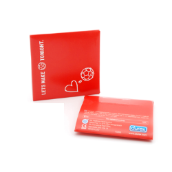 Full color envelop met 1 Durex condoom